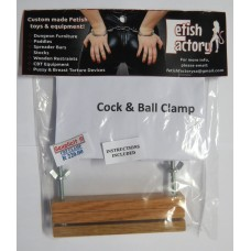 Fetish Factory Wooden Cock & Ball Clamp