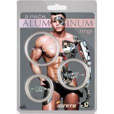 Aluminum Rings 3 Pack - Rust - 50, 45, 40 mm - Silver