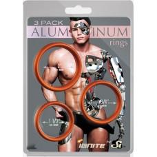 Aluminum Rings 3 Pack - Rust - 50, 45, 40 mm - Copper
