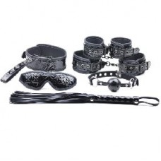 Black Color Embossed 8 Pcs SM Kit