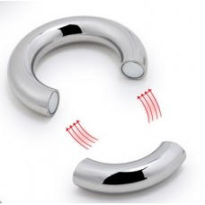 Magnetic Stainless Steel Cock Ring Ball Stretcher - 40mm