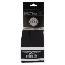 Mister B URBAN Football Socks with Pocket Black ( Store Only )