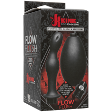 Kink - Flow Full Flush - Silicone Anal Douche & Accessory