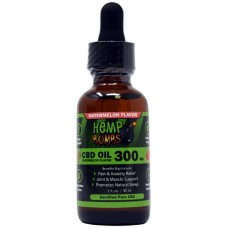 Cannabis Bombs CBD Oil Tincture Watermelon Kush 300 Milliligram Potency 30Ml Bottle
