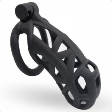 ButtStuffer - Cobra Max Silicone Chastity Cock Cage - Large