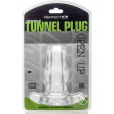 Perfect Fit Double Tunnel Plug Clear Medium