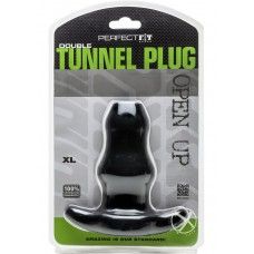 Perfect Fit Double Tunnel Plug Black XL
