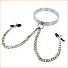 Chrome Collar with Nipple Clamps Nr 1