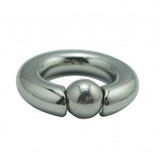 Magnetic Stainless Steel Cock Ring Ball Stretcher With Ball - 40mm