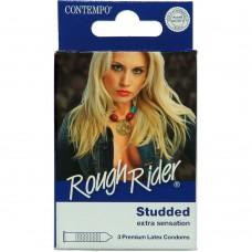 Contempo Rough Rider Premium Latex 3 Studded Condoms