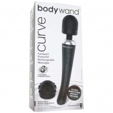 Bodywand Curve Silicone Massager Black 9 Inch