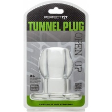 Perfect Fit Anal Tunnel Plug Clear X - Large 9.0 Inch Circumference