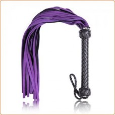 Bondage Whip - Black & Purple