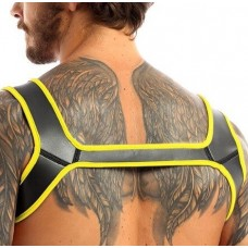 Buttstuffer - Neoprene Double Shoulder Wide Straps Harness Belt - Yellow