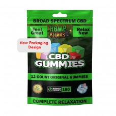 Cannabis Gummies Assorted Flavors 180 Milligrams Potency 12 Count Bag
