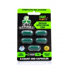 Cannabis Bombs Potent CBD Blend Capsules 75 Milligrams Potency 5 Counts Per Blister Card