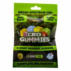 Cannabis Gummies Assorted Flavors 75 Milligrams Potency 5 Count Bag