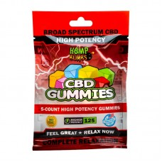 Cannabis High Potency CBD Gummies 5-Count 125mg