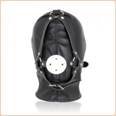 Full Head Hood With Mouth Gag