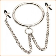 Chrome Slave Collar with Nipple Clamps Nr 2
