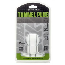 Perfect Fit Anal Tunnel Plug Clear Medium 6.3 Inch Circumference