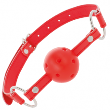 Blackness Red Breathable Ball Gag
