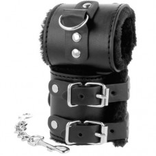 Black Handcuffs with Fur
