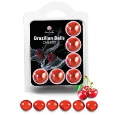 Brazilian Massage Oil Balls Set of 6 - Cherry