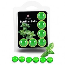 Brazilian Massage Oil Balls Set of 6 - Mint