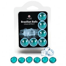 Brazilian Massage Oil Balls Set of 6 - Cold Effect