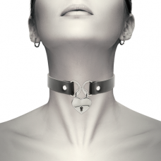 Coquette Chic - Hand Crafted Vegan Leather Key Heart Choker