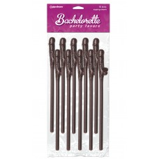 Bachelorette Party Favors Dicky Sipping Straws - Chocolate