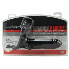 Armour Knight Molded Black Hollow Strap-On in L/XL