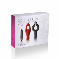 Feranti Rock Off Couples Fun Teaze N Pleaz Set Silicone Waterproof Black Red And Gold